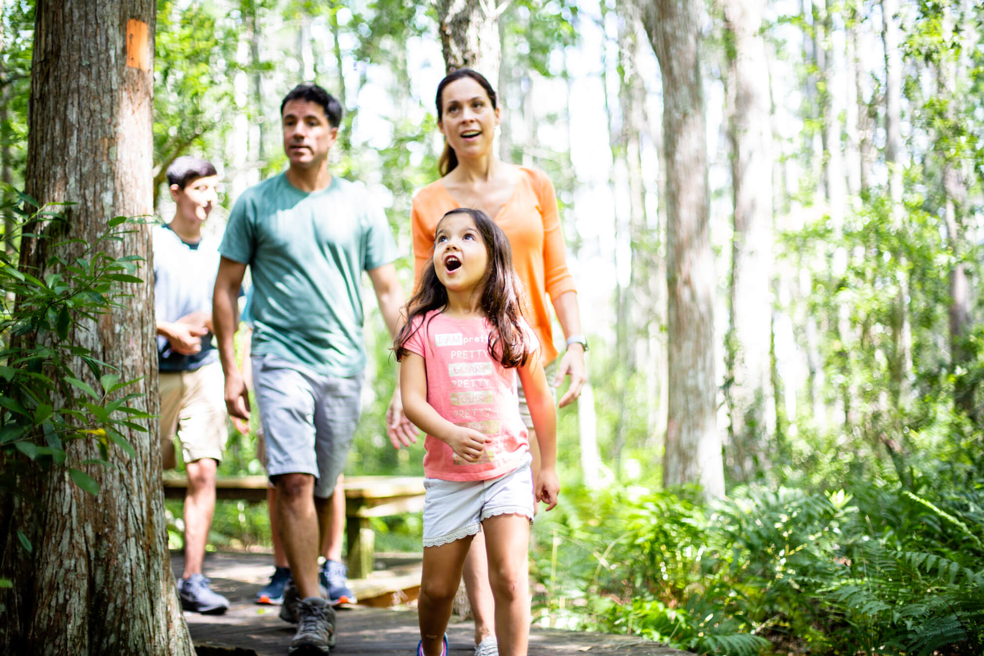 Orlando family enjoying outdoor recreation