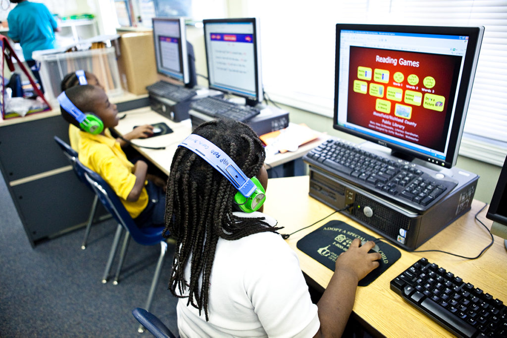 K-12 Kids on Computers